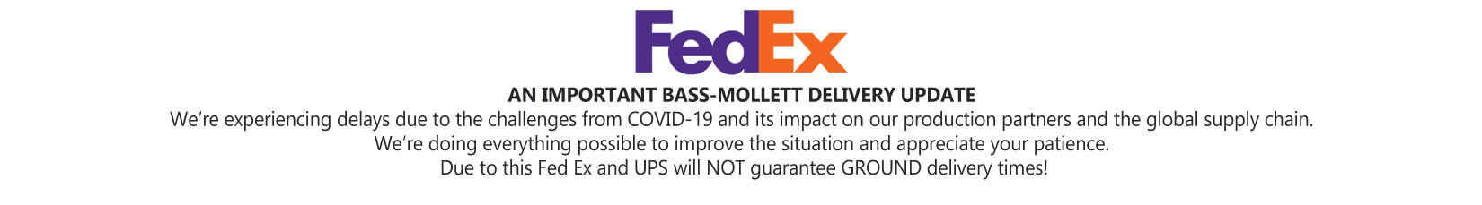 FedEx and UPS COVID-19 Banner