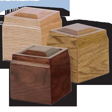 Hardwood Token Urns