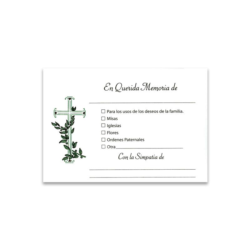 Spanish Contribution Envelopes 204