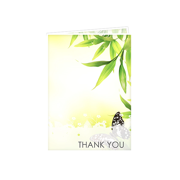 PMD White Border Thank You Cards
