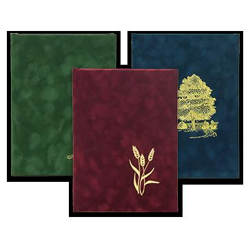 Suede Register Books