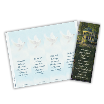 Reflections of Life Single and 4 Up Bookmarks