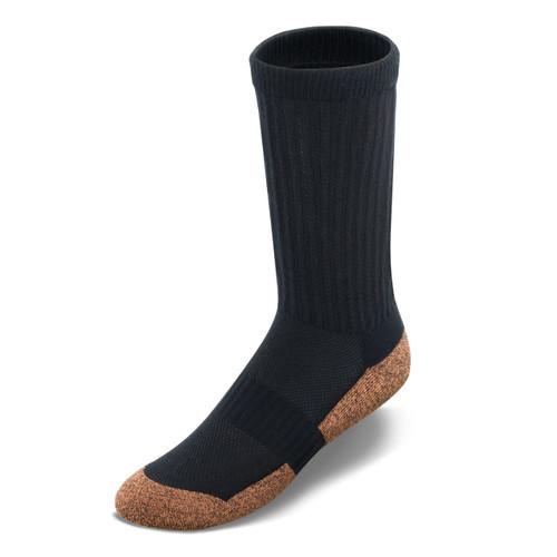 Copper Cloud crew-length socks in black.