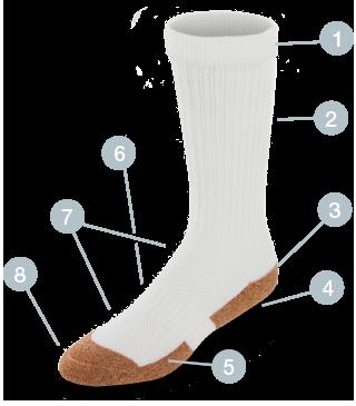 copper cloud white socks