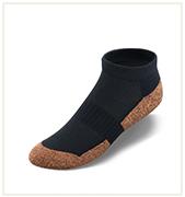 No Show Black Copper Cloud Socks