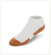 No Show White Copper Cloud Socks