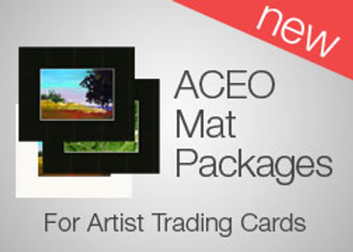 5 x 7 ATC (ACEO) Mat Packs (25)