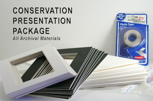 "12x16 Double 25 Pack (For Digital Sizes) (Conservation) - includes mats, 1/8"" Acid-Free Foamcore backing, sleeves and tape!"