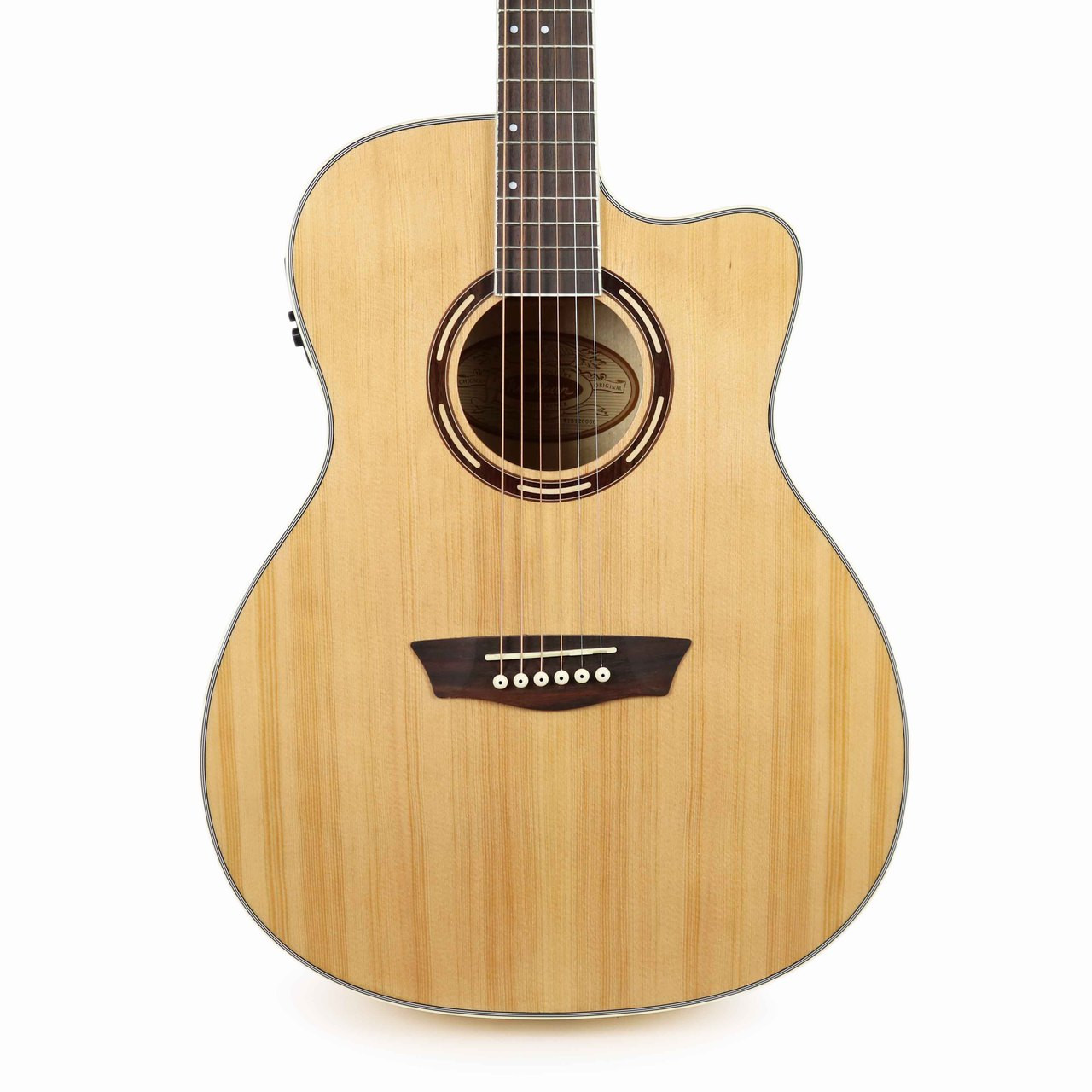 new washburn ag40ce grand auditorium acoustic electric guitar with case cream city music. Black Bedroom Furniture Sets. Home Design Ideas