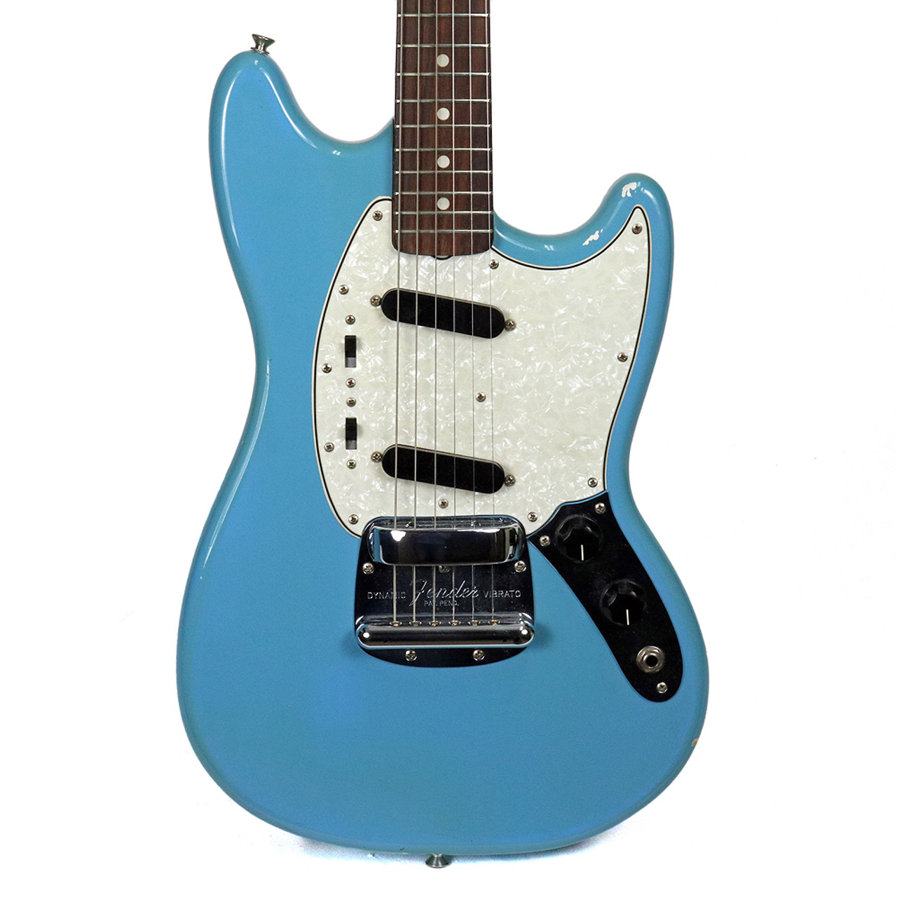 Vintage 1966 Fender Mustang Electric Guitar Blue Finish | Cream City ...