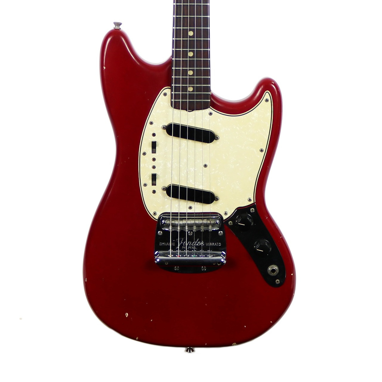 vintage 1965 fender mustang electric guitar red cream city music. Black Bedroom Furniture Sets. Home Design Ideas