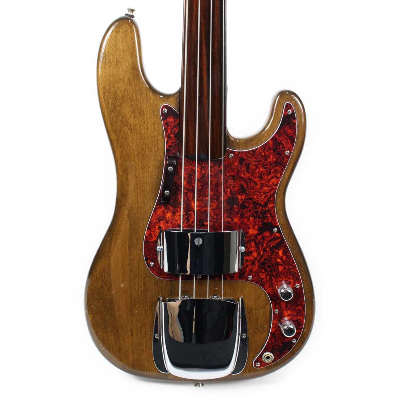 Vintage 1971 Fender Fretless Precision Bass P Bass Guitar Refinished