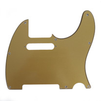 Fender Modern Telecaster 8-Hole Single-Ply Plastic Gold Metallic Replacement Pickguard
