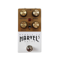 Ramble FX Marvel Drive 3 British Style Overdrive Pedal in White