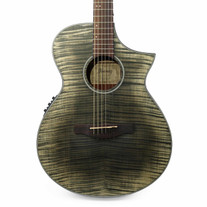 Ibanez AEWC32FM Acoustic Electric Guitar in Glacier Black Low Gloss