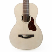 Art & Lutherie Roadhouse Parlor Acoustic Electric Guitar in Faded Cream with Gig Bag