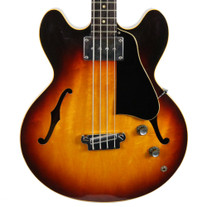 Vintage 1958 Gibson EB-2 Hollow Body Electric Bass Guitar Sunburst