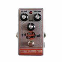 Stomp Under Foot Tri Dirty Booster Fuzz Pedal