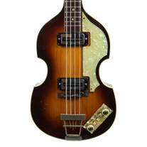 Vintage 1968 Hofner 500/1 Electric Violin Bass Sunburst Finish