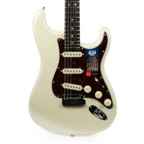 Fender American Elite Stratocaster Ebony - Olympic Pearl