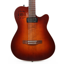 Godin A6 Ultra Baritone Acoustic Electric Guitar in Burnt Amber Finish