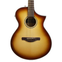 Ibanez AEWC300 Acoustic Electric Guitar in Natural Browned Burst High Gloss