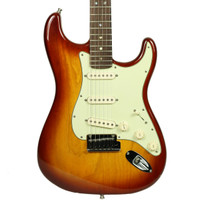 2009 Fender American Deluxe Stratocaster Electric Guitar Sienna Burst Finish