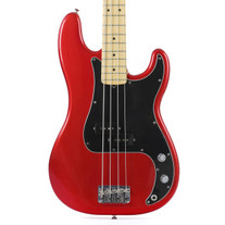 Used 2004 Fender American Series Precision Electric Bass Candy Apple Red Finish