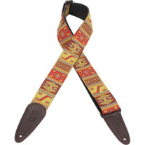 "Levy's ""Hogan"" 2"" Jacquard Red Guitar Strap"
