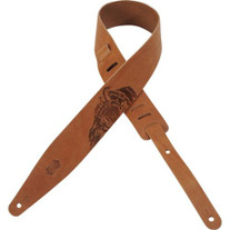 "Levy's ""Sacred"" 2 1/2"" Veg-Tan Tan Leather Guitar Strap"