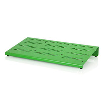 Gator Aluminum Extra Large Green Pedalboard with Case