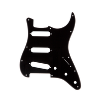 Fender Pickguard Stratocaster S/S/S, 11-Hole Mount 1-Ply - Black