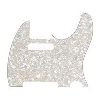 Fender Telecaster Pickguard 8-Hole Mount 4-Ply - Aged White Pearl