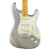 Fender FSR Traditional '50s Stratocaster with Racing Stripe - Inca Silver