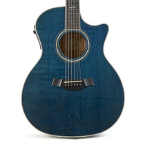 Used Taylor 614-CE Grand Auditorium Trans Blue 2000