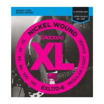 D'Addario EXL170-6 Nickel Wound Long Scale Light 6-String Bass Strings .032-.130