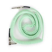 Lava Cable Retro Coil 20ft 1/4 To 1/4 Straight-Right Instrument Cable Surf Green
