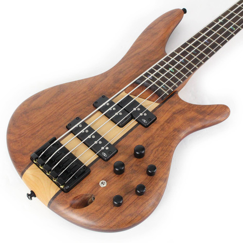 New Ibanez Sr755ntf 5 String Electric Bass In Natural Flat Cream