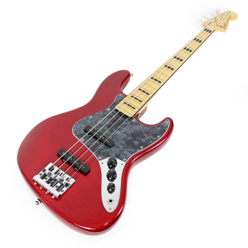 new fender limited edition usa geddy lee jazz bass with maple neck in trans crimson red cream. Black Bedroom Furniture Sets. Home Design Ideas