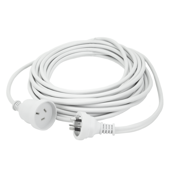 5m Extn Cord White Powermaster Retail Polybag - K4005