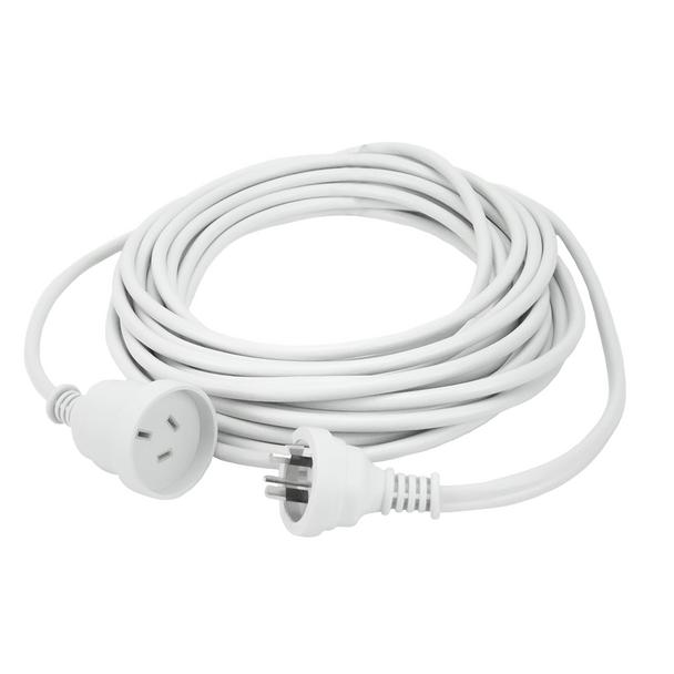 20m Extn Cord White Powermaster Retail Polybag - K4020