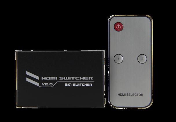 HDMI 4K2K Switch 2 In 1 Out Switcher 4K@60Hz - P07712