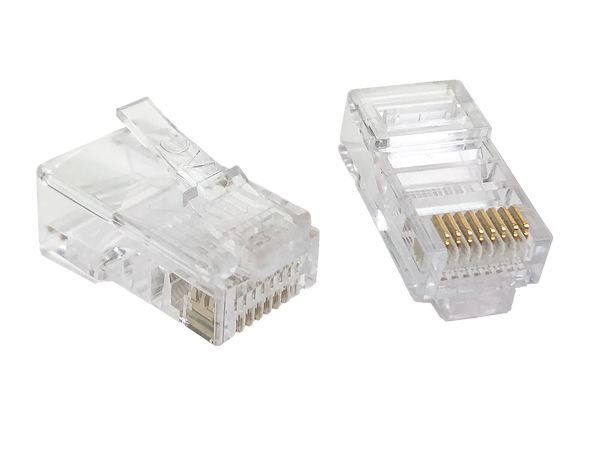 8P8C Rnd/Sol (50-Pack) - P2058