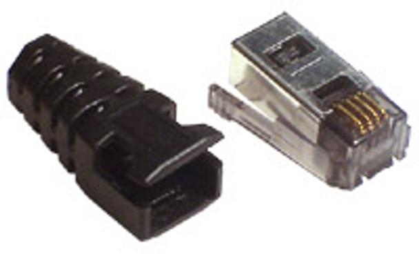 4P4C Side Latches Shielded Sdl Flt/Str - P2104-422