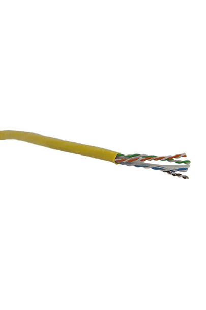 Cat6 Solid Yellow 305m - Y8500YEL