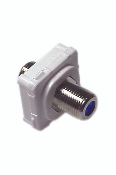 F-Type Connector Suits Aust Flush Plates - P4642