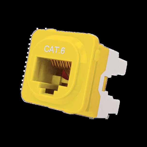 Cat 6 IDC Data Jack Yel 50-Bucket - P4666YEL