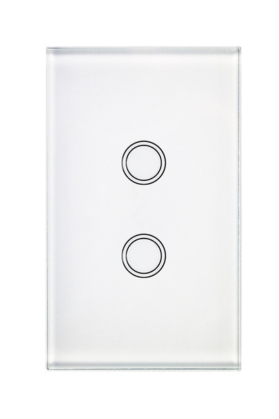 Glass look touch light switch