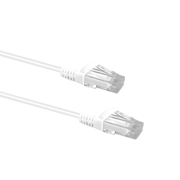 Slim Cable Cat6 Patch Cable 3m; WHITE