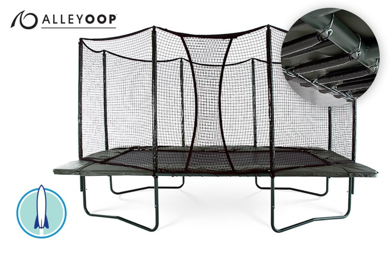 Powerbounce 10 215 17 Ft Rectangular Trampoline With Enclosure